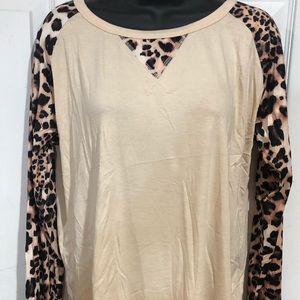 Women's Boutique Cheetah Top